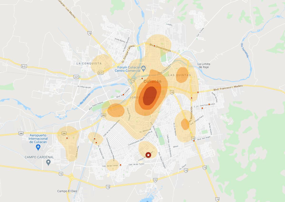 Mapa Interactivo de Siniestros Viales – Culiacán, Octubre 2020