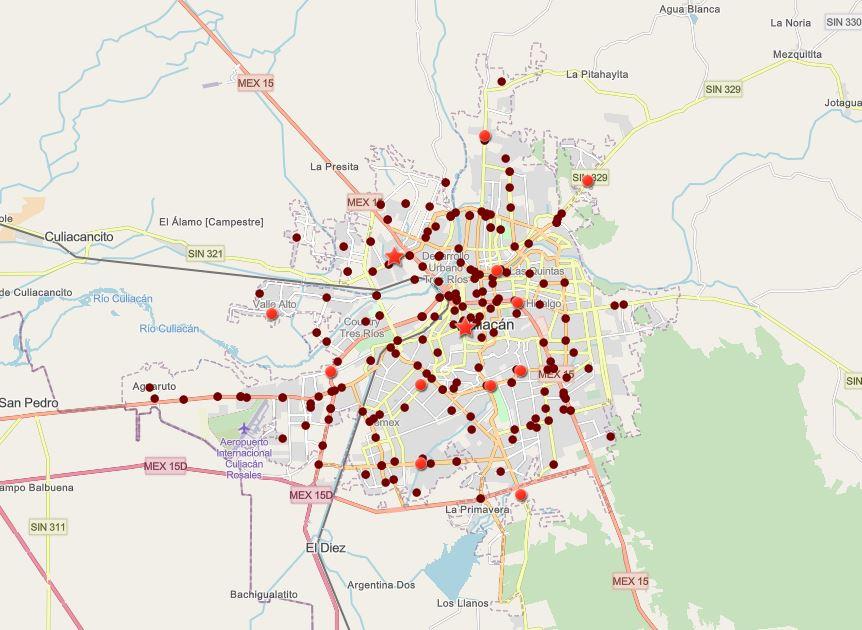 Mapa Interactivo de Siniestros Viales – Culiacán, Abril 2021