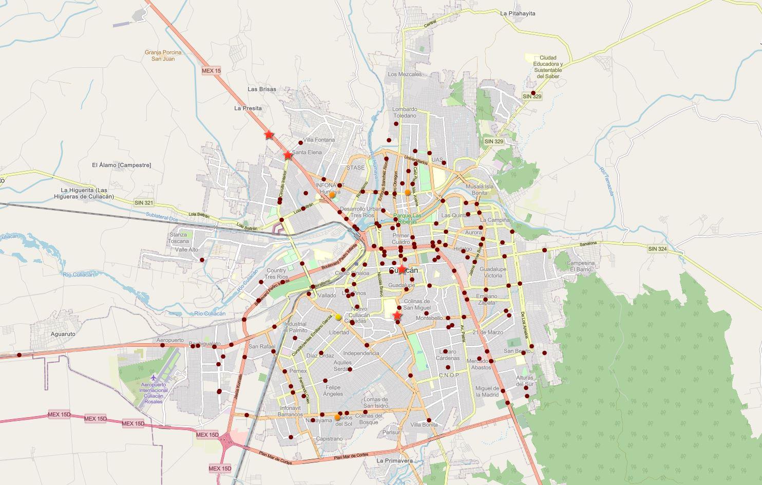Mapa Interactivo de Siniestros Viales – Culiacán, Julio 2021